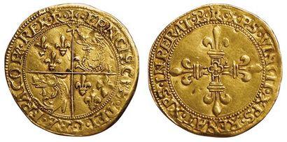 François 1er. Ecu d'or du Dauphiné. Romans....