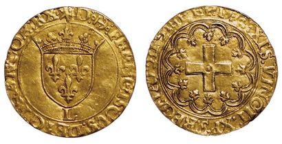 François 1er. Ecu d'or à la croisette. Bayonne....