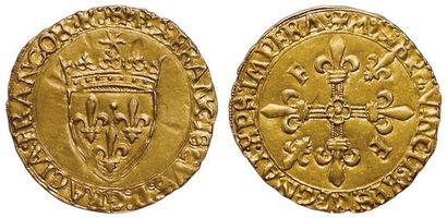 François 1er. 1515-1540. Ecu d'or au soleil....