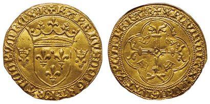 Charles VII. 1422-1461. Ecu d'or à la couronne....
