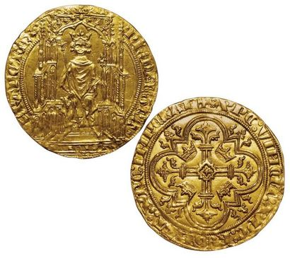 Philippe VI. Double Royal d'or. A/ Ph':DEI':GRA...