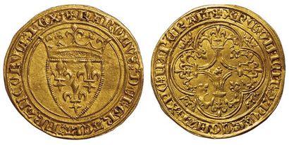 Charles VI. 1380-1422. Ecu d'or à la couronne....