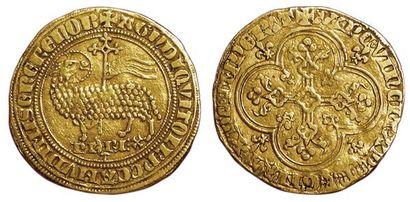 Philippe IV. Agnel d'or. A/ + AGN' D'I QVI...