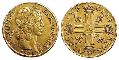 Louis XIII. Double Louis 1641 A. Paris. Var....