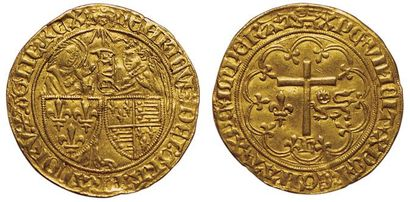 Henri VI. 1422-1453. Salut d'or. A/ HENRICVS:DEI:GRA:FRACORV:Z:AGLIE:REX....