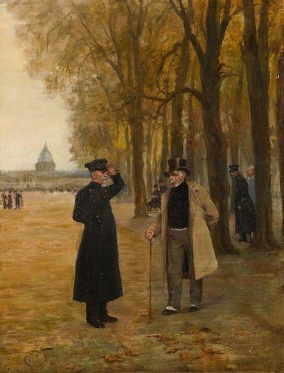 Georges CAIN (1856-1919) Promenade aux Invalides...
