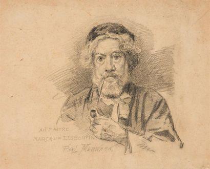 Paul MERWART (1855-1902) Portrait de Marcel...