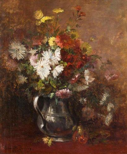 Henriette PONSIN Chrysanthèmes dans un pichet...