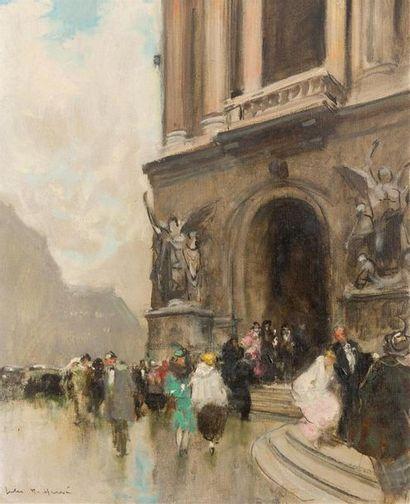 Jules René HERVE (1887-1981) Sortie de l'Opéra...