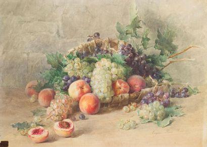 Eugénie FAUX-FROIDURE (1866-1942) Fruits...
