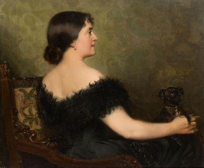 Paul MERWART (1855-1902) Portrait de l'épouse...
