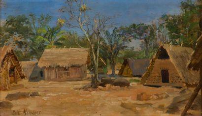 Paul MERWART (1855-1902) Village d'Hermina...