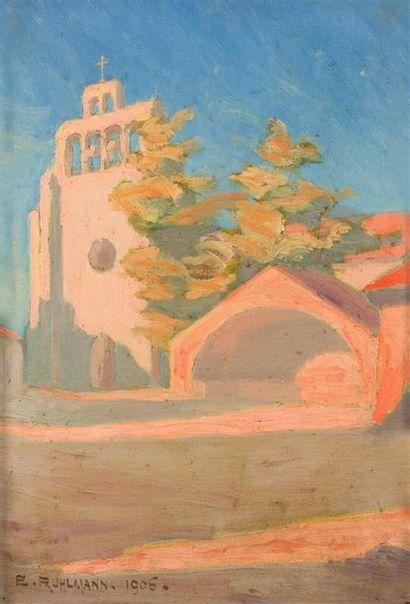 Emile-Jacques RUHLMANN (1879-1933) L'église...