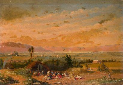 Conrad Wise CHAPMAN (1842-1910) Campement...