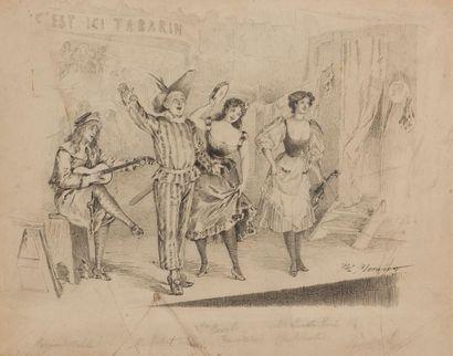 Paul MERWART (1855-1902) C'est ici Tabarin...