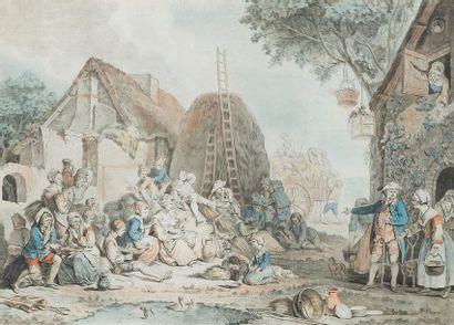 Deux écoles françaises XVIIIème siècle Scènes...