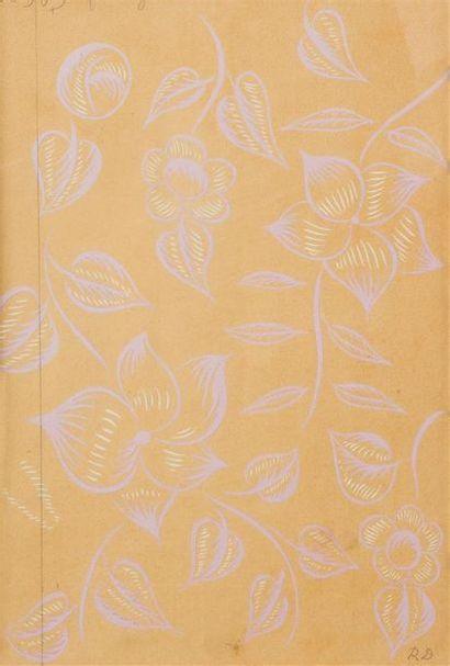 Raoul DUFY (1877-1953) Fleurs violettes sur...