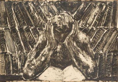 Miquel BARCELÓ (né en 1957) La lecture....