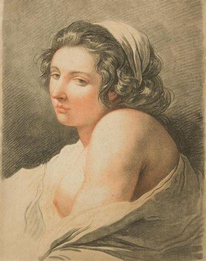 GILLES DEMARTEAU (1722-1776) Etude de femme...