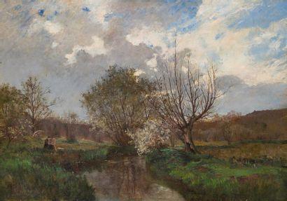 ÉCOLE DE LA FIN DU XIXème- DEBUT XXème Peintre...