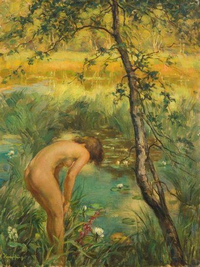 WILHELM HEMPFING (1886-1948) Jeune fille...