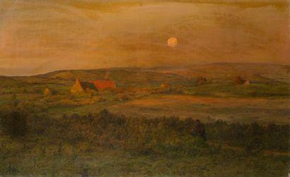 ADRIEN LOUIS DEMONT (1851-1928) Paysage breton...