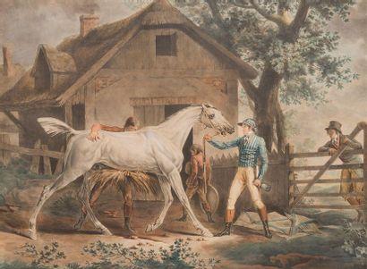 D'APRES CARLE VERNET (1758-1836) Le pansage...