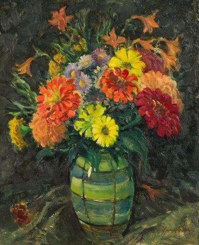 WILHELM HEMPFING (1886-1948) Bouquet Huile...