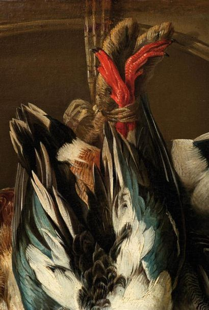 ALEXANDRE-FRANÇOIS DESPORTES (1661-1743) Nature morte au trophée de gibier, fruits...