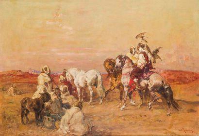 HENRI ÉMILIEN ROUSSEAU (1875-1933) Chasse...