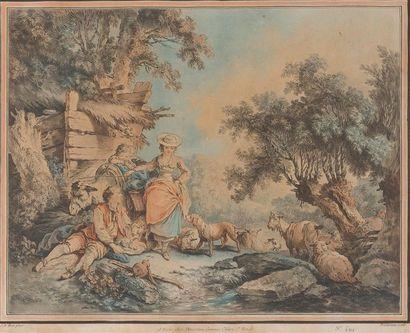 D'APRES JEAN-BAPTISTE HUET (1745-1811) L'offrande...