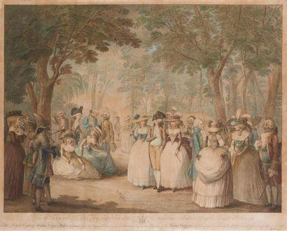 D'APRES H. W. BUNBURY (1750-1811) The garden's...