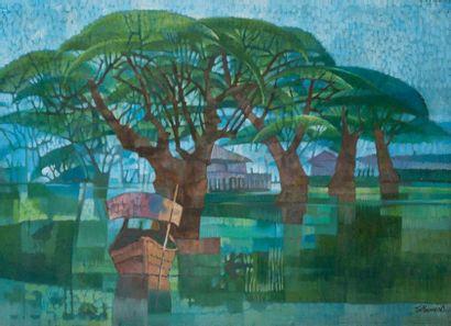 Tin Maung Oo (Né en 1949) École Chinoise...