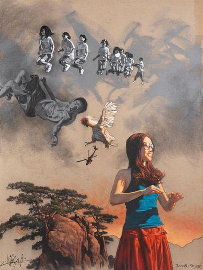 Zhong Bioa (Né en 1968) Ecole Chinoise contemporaine...