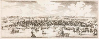 Gaspard MERIAN Vue panoramique de Bordeaux...