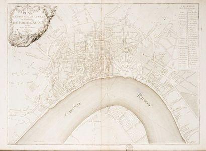 BORDEAUX Plan géométral de la ville et faubourg...
