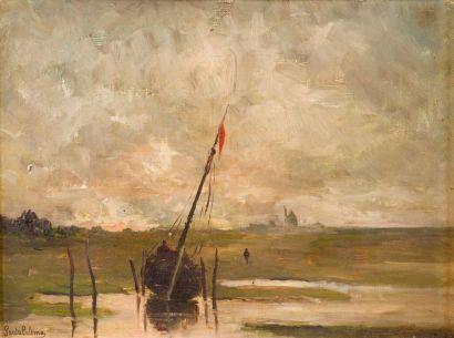 Emmanuel de SANTA COLOMA (1829-1886) Marine....