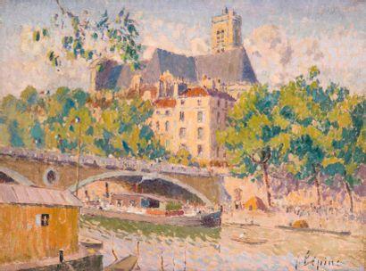 Joseph LÉPINE (1867-1943) L'Église Saint...