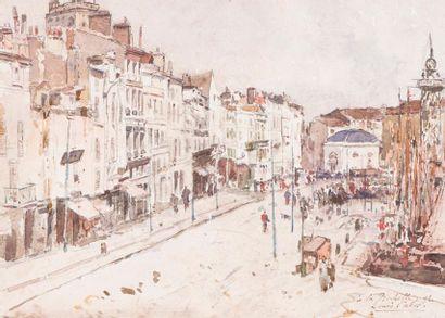 Louis-Alexandre CABIÉ (1854-1939) Le port...