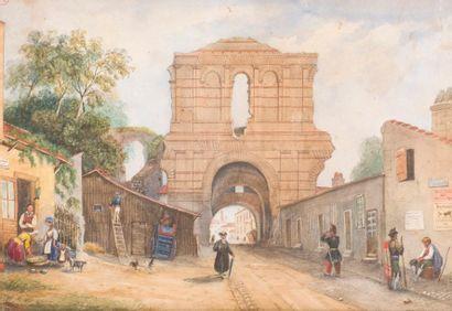 ÉCOLE RÉGIONALE XIXe Vue du Palais Gallien...