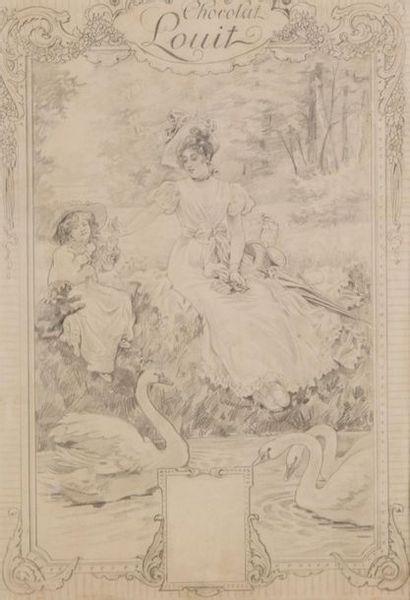 Attribué à Paul QUINSAC (1858-1929) Projet...