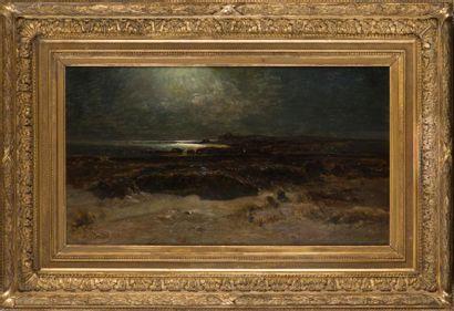 Amédée BAUDIT (18271890) Côte rocheuse, effet...