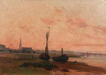 Léon BOPP DU PONT (1840-1924) Bordeaux, quai...