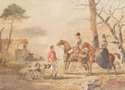 Stanislas GORIN (1824-1874) Le Baron et la...