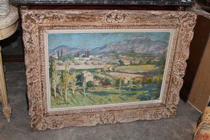 René Auguste DURIEUX (1892-1952)  Paysage...