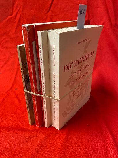 ENSEMBLE DE PUBLICATIONS UBTF  PERTUS Raymond,...