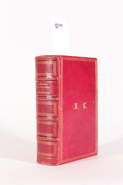 Maroquin rouge  ALESSANDRO (Alessandri)  Genialium...