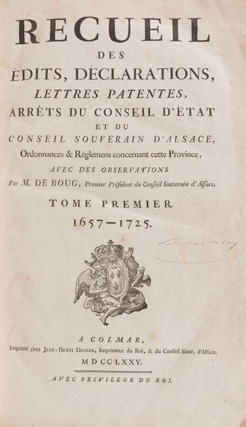 Alsace  BOUG d'ORSCHWILLER (François Henri...
