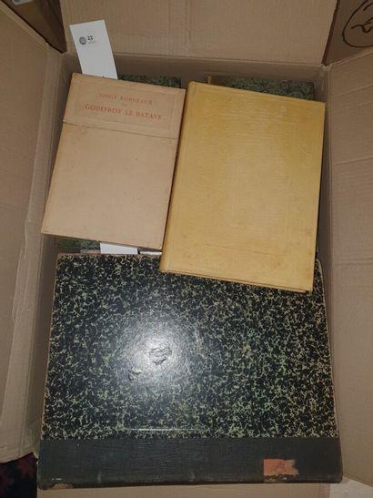 VARIA  2 cartons d'ouvrages reliés et brochés,...