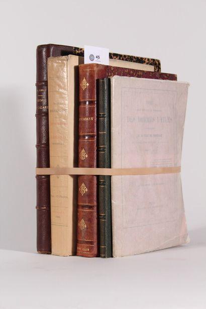BORDEAUX  Réunion de 5 ouvrages : - GRÜN...